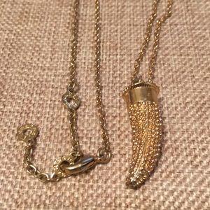Baublebar Gold Horn Necklace Pendent